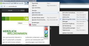 Firefox Displaygrößen testen