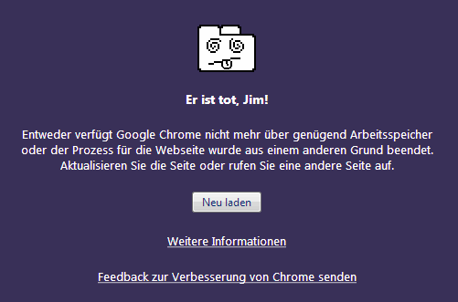 Google Chrome - Er ist tot, Jim!