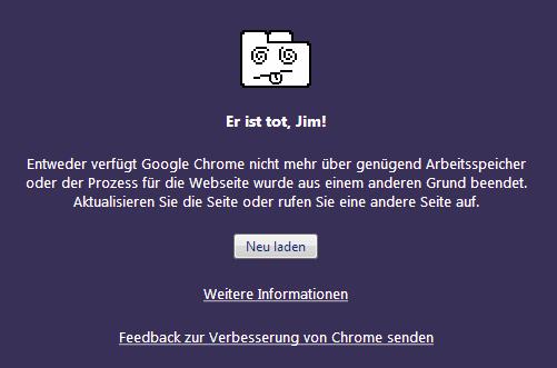 Google Chrome - Er ist tot, Jim!