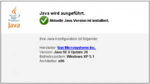 Java Version via Webseite