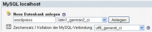 MySQL DB anlegen