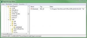 Regedit - Excel in neuer Instanz - Nachher