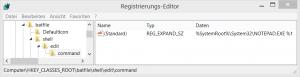 Registry BAT Standardeditor anpassen
