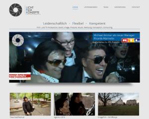 Webseite Lichtfilmkonzepte.de