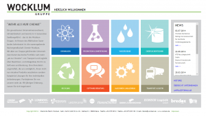 Webseite Wocklum-Gruppe.de