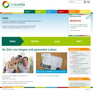 Webseite von creavita.eu