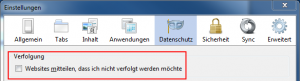 Firefox - Do not track