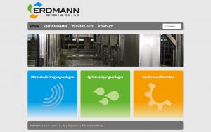 Webseite - Erdmann GmbH & Co. KG