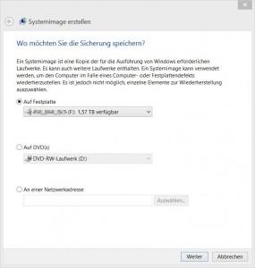 Windows Systemabbildsicherung als Backup mit Bordmitteln erstellen [2]