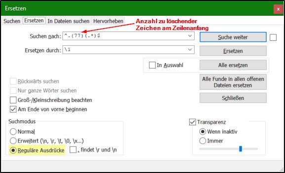 Notepad++ - Spalten markieren